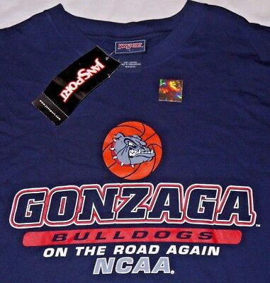 Mens BNWT Jansport NCAA GONZAGA March Madness Basketball Graphic T Shirt size L