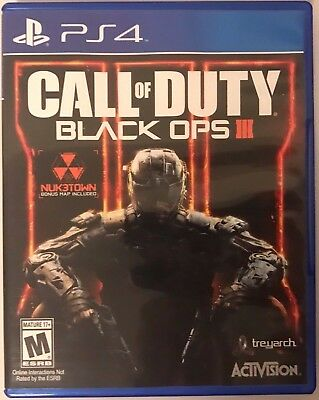 Call of Duty Black Ops III 3 Sony PlayStation 4 PS4 2015 GUARANTEED - BO3