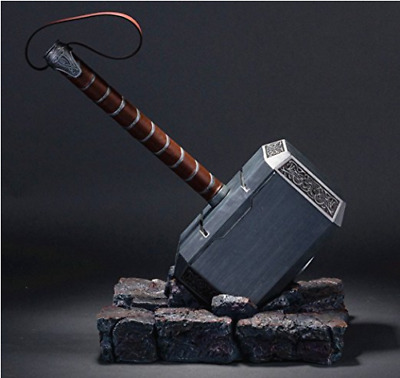 The Avengers 11 Thor Hammer Replica Resin Stand Base Cosplay Silver Props Gift