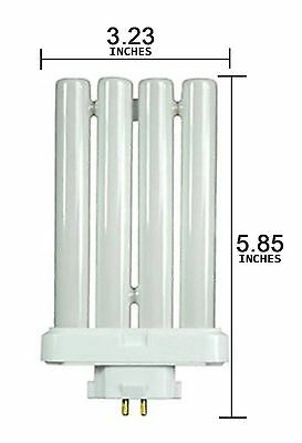 Full Spectrum 27W 4 Pins Quad Tube Fluorescent Daylight Replacement Bulb Lamp