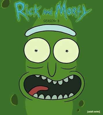 Rick and Morty Season 3 The Complete 3rd Season  DVD 2017 2 Discs Ships FREE