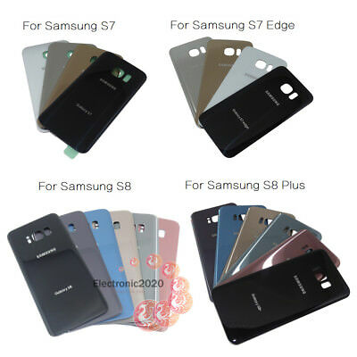 OEM Battery Cover Glass Back Housing For Samsung Galaxy S7 S7 Edge S8 S8 Plus