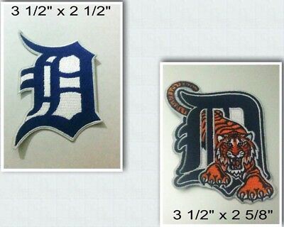 Detroit Tigers Logo Iron On Patch Choice of Style Free Shipping in Envelope Mail