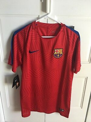 Nike Dry Training 20162017 F-C- Barcelona Pre Match Red Jersey