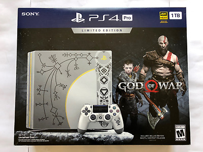 NEW PlayStation 4 Pro 1TB Limited Edition Console - God of War Bundle
