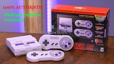 Super Nintendo System SNES Classic Edition MINI ADDED 820- GAMES FAST SHIP NEW