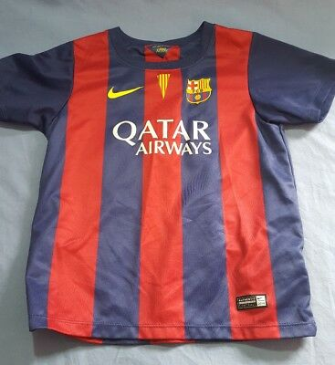 Nike Authentic Neymar Jr- FC Barcelona Soccer Jersey Kids Size Small