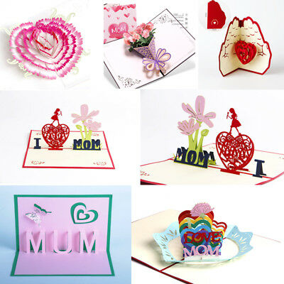Craft 3D Pop Up Greeting Cards Birthday Mothers Day Gifts Best Wishes