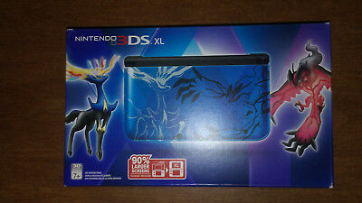 Nintendo 3DS XL Pokemon X and Y Blue Handheld System - MINT