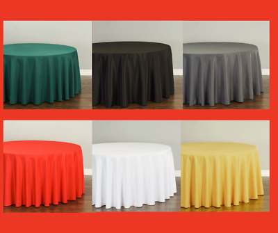 LinenTablecloth 120 in- Round Polyester Tablecloths 10 Pack 33 Colors