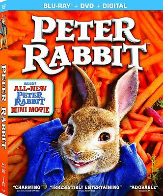 Peter Rabbit Blu-Ray - DVD - Digital 2018 wSLIP COVER NEW - SEALED