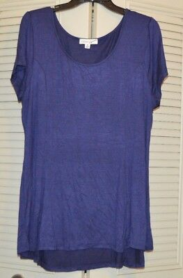 Zenana Signature Wet Seal Dark Blue Knit Top 3X