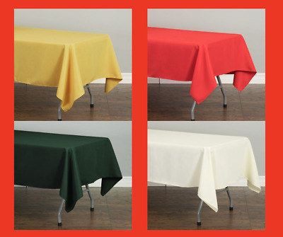 LinenTablecloth 60 x 102 in-Rectangular Polyester Tablecloth Wedding Event Party