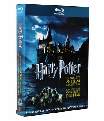 Harry Potter Complete 8-Film Collection 8-Disc Set BLU-RAY 2011 NEW