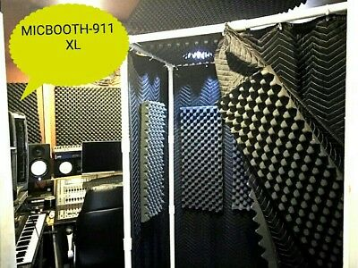 MICBOOTH-911 XL Portable Stand-In Vocal Booth Big 2 x 4