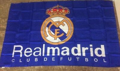 Real Madrid Flag 3x5 ft Spain Soccer Bandera LOS MERENGUES THE BEST OF THE WORLD