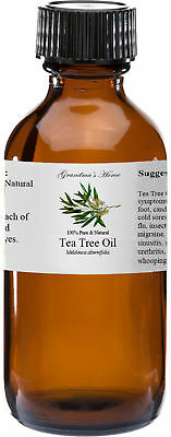 Tea Tree Essential Oil - 4 oz - 100 Pure and Natural - Free Shipping