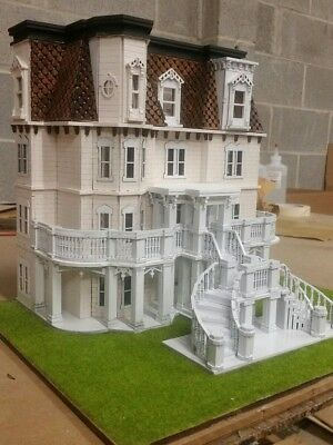 148 Scale Hegeler Carus Mansion Dollhouse Kit 0000390