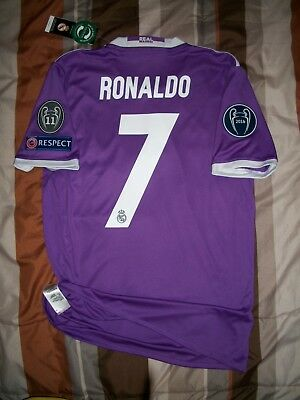 RARE Adidas Real Madrid Away Soccer Football Jersey 2016 2017 Ronaldo Champions