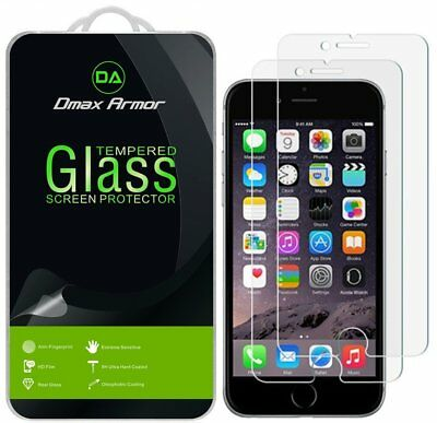 2-Pack Dmax Armor for Apple iPhone 8 8 Plus Tempered Glass Screen Protector