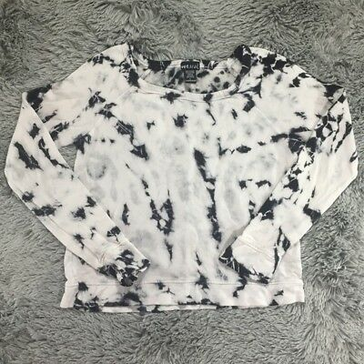 WET SEAL JUNIOR KNIT TOP TIE DYE SHIRT HIPPIE TRENDY ARTSY LOUNGE CASUAL LARGE
