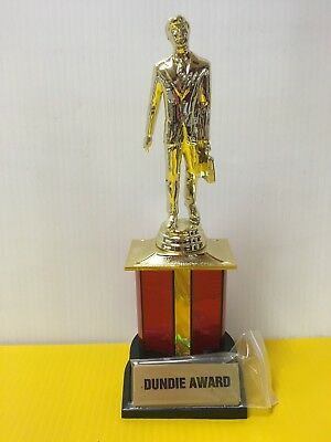 Dundie Trophy Award The Office TV Dunder Mifflin Dundee 10 12  w 6 plates
