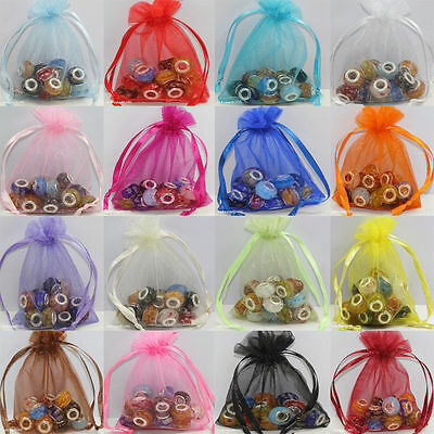 2550100X Gauze Organza Jewelry Packing Pouch Drawstring Bag Wedding Favor Gift