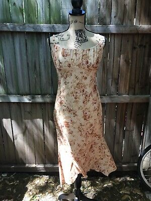 Wet Seal Womens Dress Size Large Brown  Floral Roses