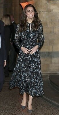 RARE L-K BENNETT CERSEI EVERGREEN DRESS UK SIZE 10 AS SEEN ON KATE MIDDLETON