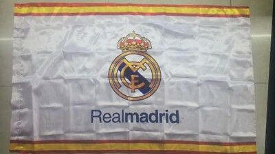 Real Madrid Flag 3x5 ft Spain Soccer Bandera LOS MERENGUES CON BANDERA DE ESPANA