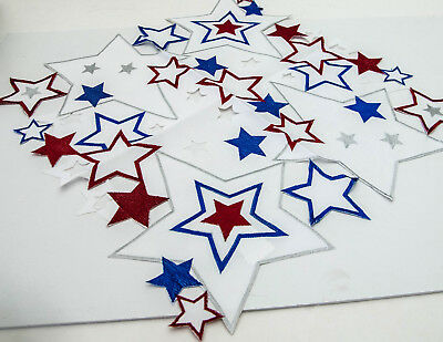 Fourth of July Stars Table Topper 34 x 34 by Wimpole St- Creations  NIP