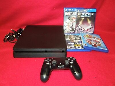 Sony PlayStation 4 PS4 Slim 500GB Black Game Console CUH-2015A  GAME BUNDLE