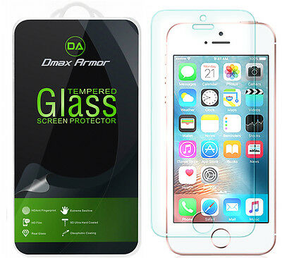 2-Pack Dmax Armor for iPhone SE  5S  5C  5 Tempered Glass Screen Protector