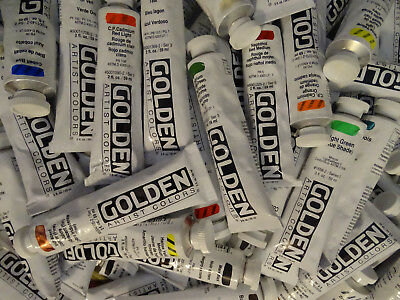 Golden Heavy Body Artists Acrylic Paint 2 oz flat rate shipping 78 colors