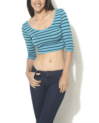 Wet Seal Crop Top With Stripes Large