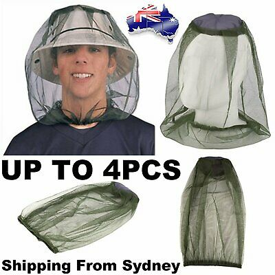 Fly Mosquito Head Net Hat Protector Farm Fruit Picking Fishing Gardening Camping