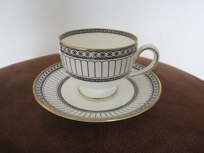 Wedgwood Colonnade-Black Cup and Saucer  - Excellent Cond