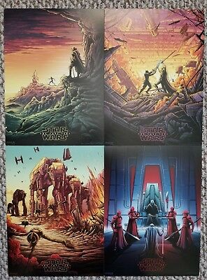 The Last Jedi Star Wars AMC IMAX mini posters set of 4  makes a nice gift