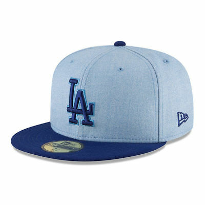 Los Angeles Dodgers Adult New Era 59FIFTY 2018 Fathers Day Fitted Hat - Blue
