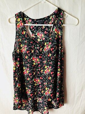 Wet Seal Large Tank Top Floral Silky