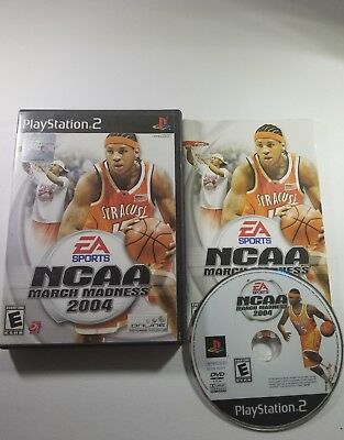 NCAA March Madness 2004 Sony PlayStation 2 2003 complete and tested carmello