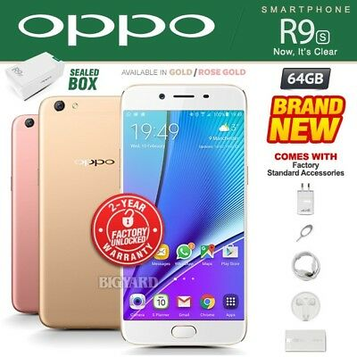New - Sealed Factory Unlocked OPPO R9S Rose Gold Dual SIM 64GB Android Phone