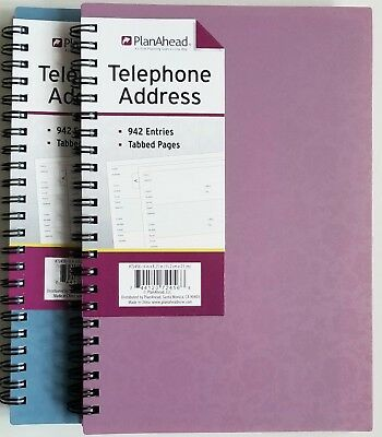 PlanAhead Address Telephone book 72456 with Tabbed Pages 6 X 8-25 colors vary
