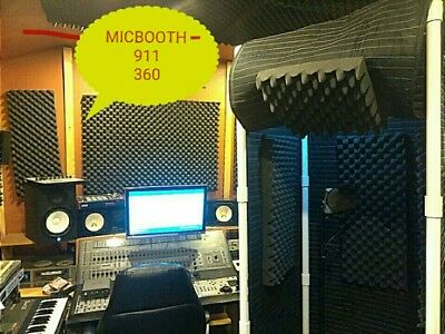 MICBOOTH-911 360  Stand-In Vocal Booth  w Light - w Door Enclosure