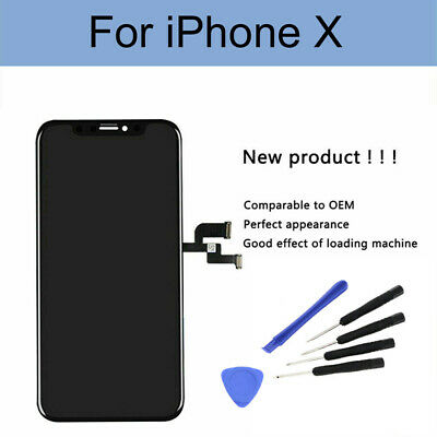 For iPhone X 10 Digitizer LCD Display Touch Screen Frame Assembly Replacement