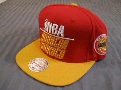 NBA Adjustable Snapback HatCap Houston Rockets Mitchell - Ness Sticker