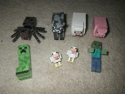 Minecraft Mixed Lot 8 animals Figures  block