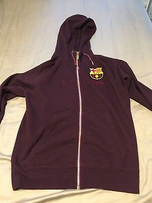 Men's Nike FC Barcelona Sweatshirt Zip-up Red Medium