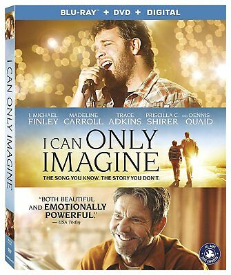 I Can Only Imagine Blu-ray - DVD - Digital 2018 wSLIP COVER FREE SHIP