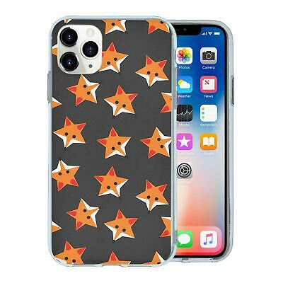 SILICONE PHONE CASE BACK COVER FOXES STARS GREY PATTERN S974
